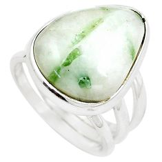15.76cts natural tourmaline in quartz 925 silver solitaire ring size 7 m91813