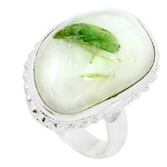 16.46cts natural tourmaline in quartz 925 silver solitaire ring size 6.5 m91817