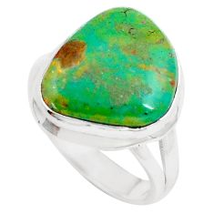 7.12cts natural green opaline 925 silver solitaire ring jewelry size 8.5 m91846