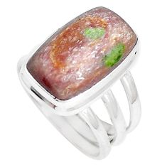 10.30cts natural purple eclogite 925 silver solitaire ring size 8 m93096