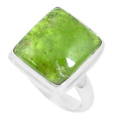 10.33cts natural green vasonite 925 silver solitaire ring jewelry size 8 m93161