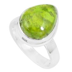 925 silver 7.12cts natural green vasonite solitaire ring jewelry size 7 m93164