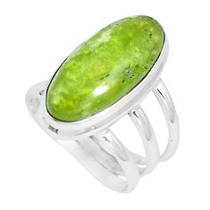 10.04cts natural green vasonite 925 silver solitaire ring jewelry size 7 m93167