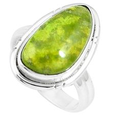 925 silver 7.12cts natural green vasonite solitaire ring jewelry size 6 m93169