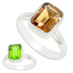 925 sterling silver 3.30cts green alexandrite (lab) solitaire ring size 6 m95969
