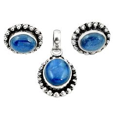 925 sterling silver natural blue kyanite pendant earrings set jewelry m25512
