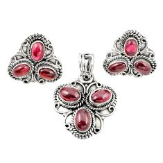 925 sterling silver natural red garnet pendant earrings set jewelry m25550