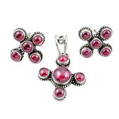925 sterling silver natural red garnet pendant earrings set jewelry m25579