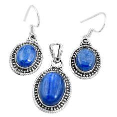 Natural blue doublet opal australian 925 silver pendant earrings set m78617