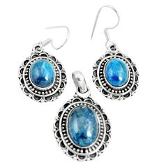 925 silver 17.01cts natural apatite (madagascar) pendant earrings set m91706