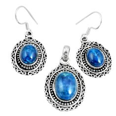 17.65cts natural apatite (madagascar) 925 silver pendant earrings set m91709