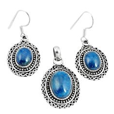 925 silver 17.42cts natural apatite (madagascar) pendant earrings set m91711