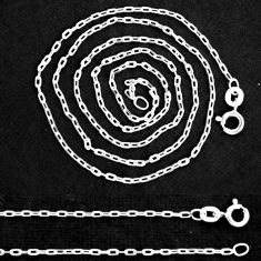 """Wholesale lot of 5 sterling silver 18"""" forz d/c chain necklace 2.10gms nc2"""