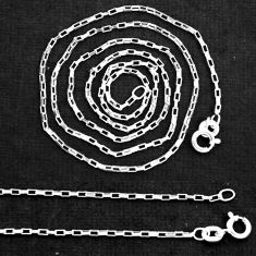 """Wholesale lot of 5 sterling silver 18"""" round box chain necklace 3.00gms nc4"""