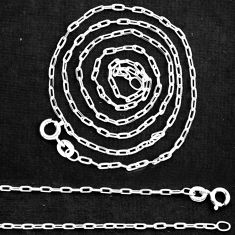 """Wholesale lot of 5 sterling silver 18"""" forz d/c chain necklace 3.20gms nc5"""