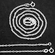 "Wholesale lot of 5 sterling silver 18"" link cable chain necklace nc12"
