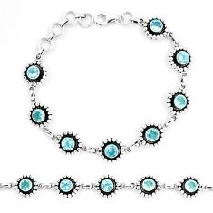 6.93cts natural blue topaz 925 sterling silver tennis bracelet jewelry p13917