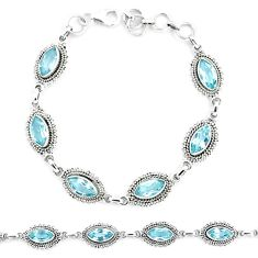 12.63cts natural blue topaz 925 sterling silver tennis bracelet jewelry p13953