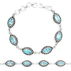 13.53cts natural blue topaz 925 sterling silver tennis bracelet jewelry p13955