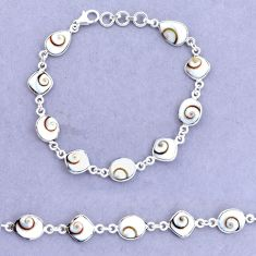 20.71cts natural white shiva eye 925 sterling silver tennis bracelet p22401