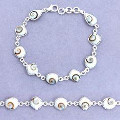 20.05cts natural white shiva eye 925 sterling silver tennis bracelet p22402