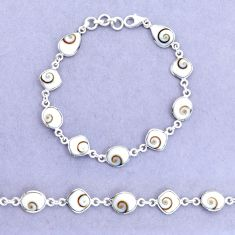 925 sterling silver 18.38cts natural white shiva eye tennis bracelet p22404