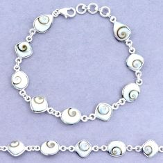 20.13cts natural shiva eye 925 sterling silver tennis bracelet jewelry p22417
