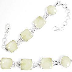 925 silver natural libyan desert glass (gold tektite) tennis bracelet p8497
