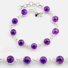 27.13cts tennis natural purple amethyst 925 sterling silver bracelet p96891