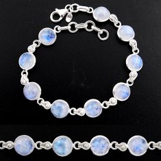 925 sterling silver 29.34cts tennis natural rainbow moonstone bracelet p96899