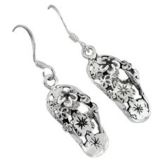 4.63gms sandals bali style solid 925 sterling silver dangle earrings p1082