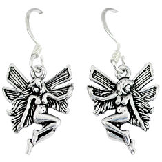 4.65gms indonesian bali style solid 925 silver angel wings fairy earrings p1095
