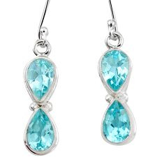 925 sterling silver 11.21cts natural blue topaz earrings jewelry p11415