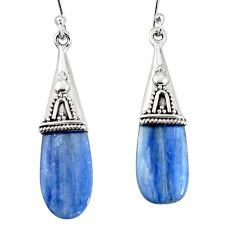 12.05cts natural blue kyanite 925 sterling silver earrings jewelry p11450