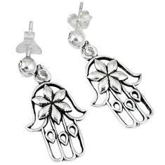 925 silver indonesian bali java island hand of god hamsa earrings jewelry p1159