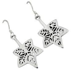Indonesian bali java island 925 sterling silver dangle flower earrings p1161