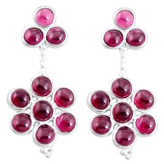 925 sterling silver 18.14cts natural red garnet earrings jewelry p11779