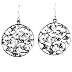 4.77gms indonesian bali style solid 925 sterling silver dangle earrings p1206