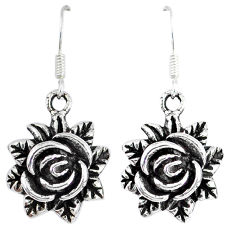 Flower earrings 6.01gms indonesian bali style solid 925 sterling silver p1234