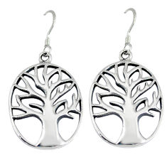 Tree of life earrings 4.79gms indonesian bali style solid 925 silver p1237