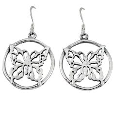 925 sterling silver indonesian bali java island butterfly earrings jewelry p1246