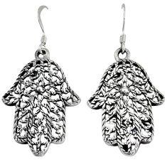 Indonesian bali java island 925 silver hand of god hamsa earrings jewelry p1256