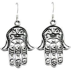 Indonesian bali java island 925 silver hand of god hamsa earrings jewelry p1257