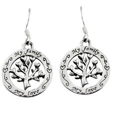 925 silver indonesian bali java island tree of life earrings jewelry p1277