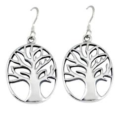 Indonesian bali java island 925 sterling silver tree of life earrings p1278