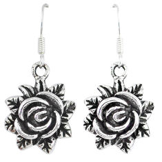 925 sterling silver indonesian bali java island flower earrings jewelry p1280