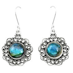 10.02cts natural blue labradorite 925 sterling silver dangle earrings p13227