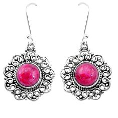 925 sterling silver 10.37cts natural red ruby dangle earrings jewelry p13240