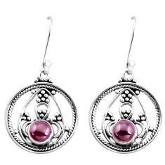 925 sterling silver 2.81cts natural red garnet dangle earrings jewelry p13254