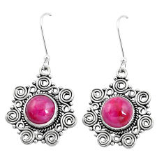 10.53cts natural red garnet 925 sterling silver dangle earrings jewelry p13330